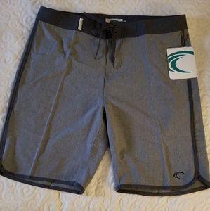 Mens Teal Cove Board Shorts- Medium